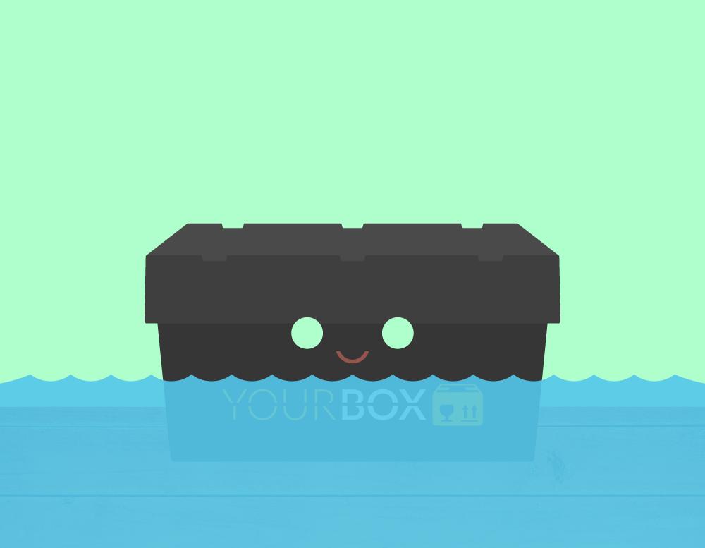 Your Box Umzugsbox im Wasser